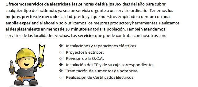 Electricistas Tiana Urgentes